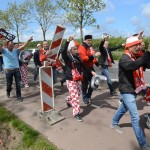 VIDEO: Aankomst Kozakken Boys supporters in Barendrecht