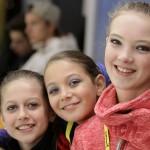 Kunstrijdsters Dani Loonstra (10) en Sophie Bijkerk (13) internationaal