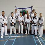 Geslaagd zwarte band-examen voor karate vereniging Him Yong Gi