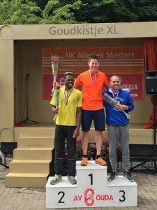 Rikkert van Rhee kampioen op de 400 meter tijdens NK Atletiek voor Masters