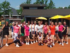 Damesdubbeldag 2017 bij Tennisvereniging Barendrecht