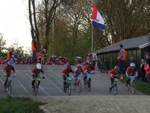 Club wedstrijd BMX in Barendrecht