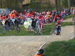 Club wedstrijd BMX in Oud Beijerland