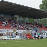 Tribune BVV Barendrecht op sportpark de Bongerd (Voetbal)