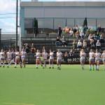 Hockeydames strijdend ten onder tegen Ommoord