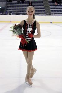 Podiumplaats Sophie Bijkerk tijdens kwalificatie Open NK