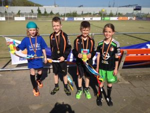 Rabobank schoolkorfbal toernooi bij KV Vitesse