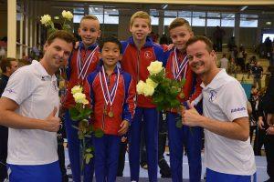 Medailleregen voor turnheren GVB op NK in Alphen a/d Rijn