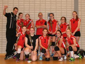 Volleybal Meisjes A van CVV Spirit kampioen in 2e klasse