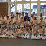 Examens bij JCR judo: Alle kandidaten een hogere graad