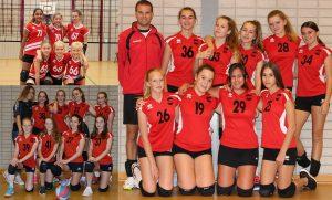 Meisjes B, Meisjes C1 en Meisjes D1 van Volleybalvereniging Spirit kampioen