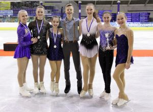 Zilver voor kunstrijdster Dani Loonstra in internationale Ice Talent Trophy 2019